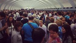 Сбой на серой ветке московского метро © Фото: Vladimir Bortnik